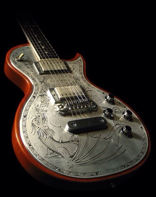 etched metal plate electric guitar