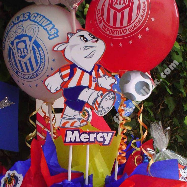Arreglo con globos de las Chivas