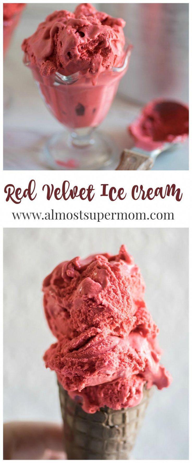 Helado de terciopelo rojo. Cremoso, soñador y delicioso. Esta receta de helado es la …   – Ice cream recipes
