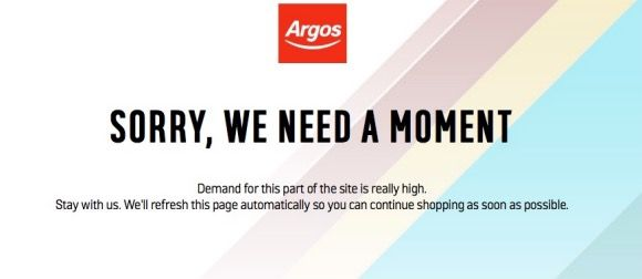 Argos Website is Down, 3 for 2 Sale Incoming