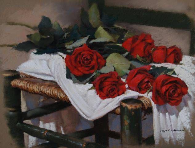 Flores sobre silla - Germán Aracil - Galería de Arte La Zubia
