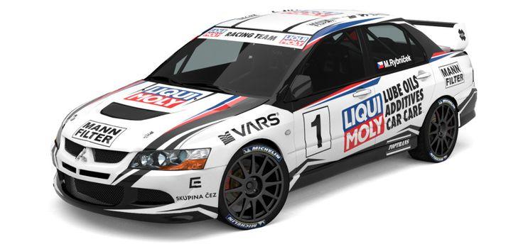 Liqui Moly Racing Team - M. Rybníček (Mitsubishi Lancer Evo VIII) - design for season 2013.