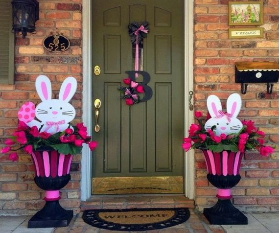 70 Awesome Outdoor Easter Decorations For A Special Holiday 01