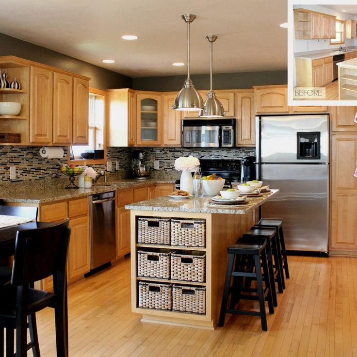 25 Beautiful Kitchen Colors With Light Oak Cabinets: Best 25+ Light Wood Cabinets Ideas On Pinterest