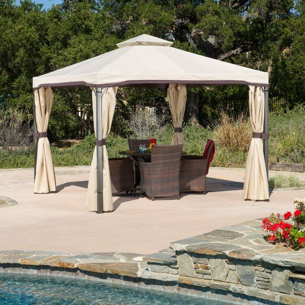 Franz 10 Ft W X 10 Ft D Metal Patio Gazebo Patio Gazebo Backyard Gazebo Outdoor Gazebos