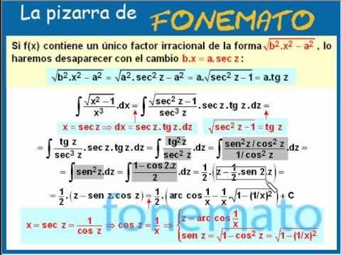 Más ejemplos de calculo de primitivas de algunas funciones irracionales.   Ejercicios resueltos de primitivas de algunas funciones irracionales 4/4