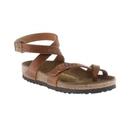 Birkenstock – Antique Brown Yara Leather Sandal
