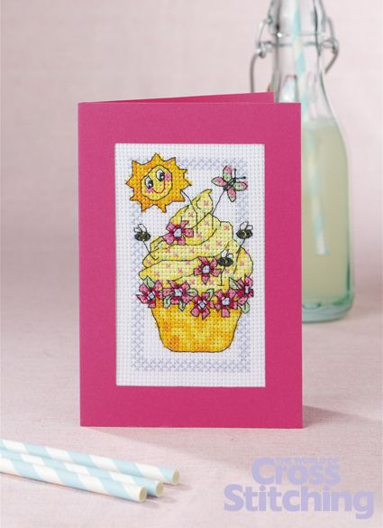 Cupcake of the Month - the latest delicious cross stitch pattern in this series by Durene Jones. Find the chart in The World of Cross Stitching magazine issue 203