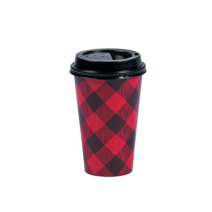 Buffalo Plaid Insulated Coffee Paper Cups - OrientalTrading.com