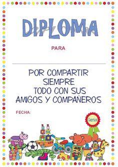 Diplomas infantiles para imprimir gratis, acaba el curso escolar y los alumnos reciben sus calificaciones y su diploma escolar con los resu...