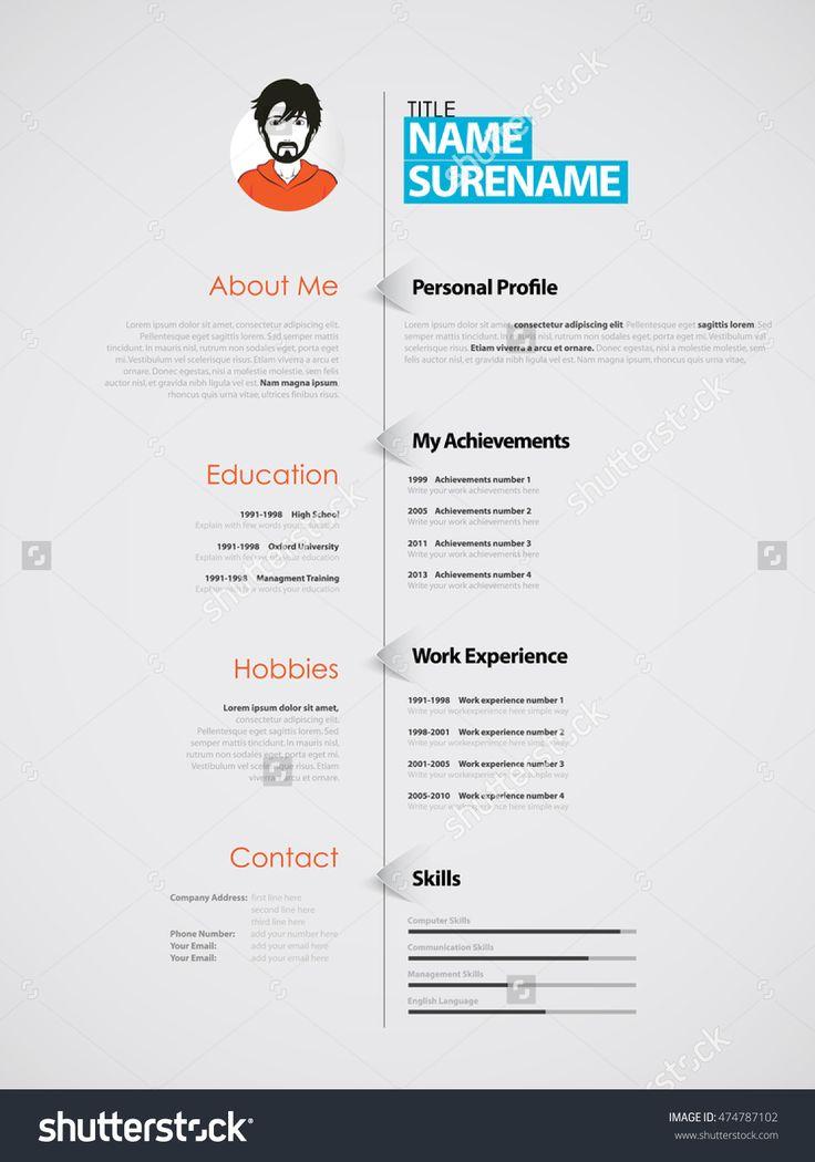 28 best CV styling images on Pinterest   Lebenslauf design ...