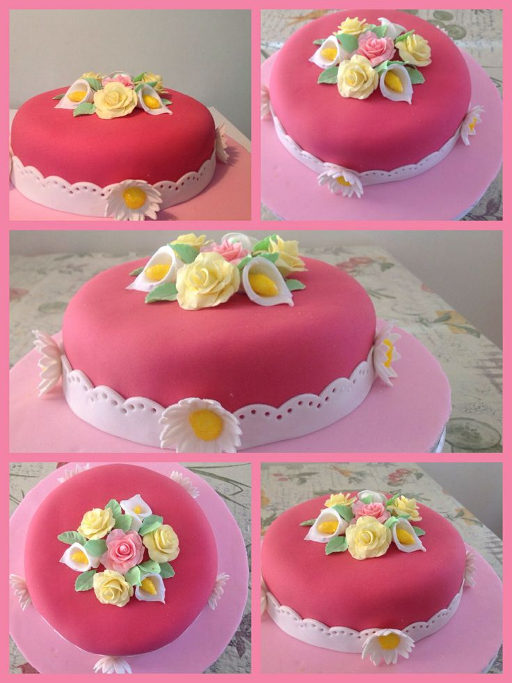 Final cake - Wilton course 3 Cake decorating Pinterest ...
