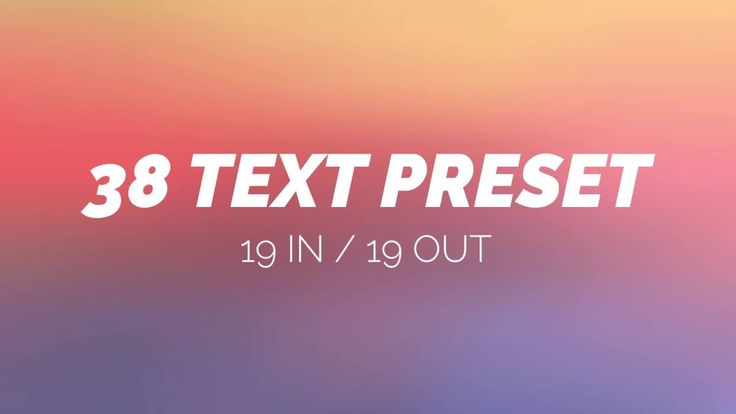 38 Text Animation Preset After Effect