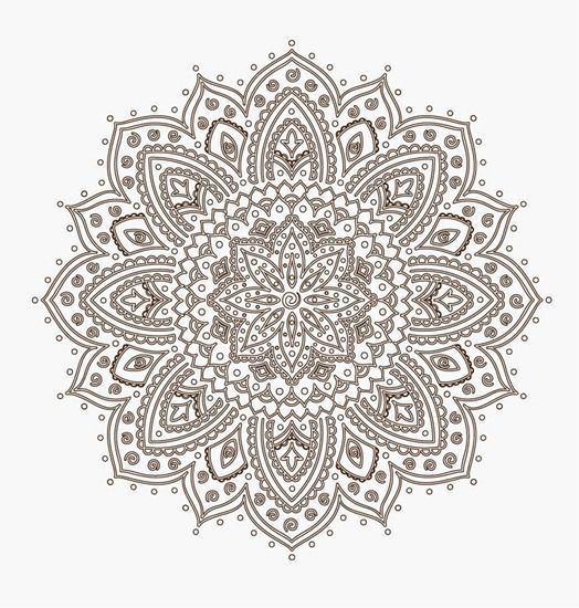 Ornamental Round Floral Lace Pattern
