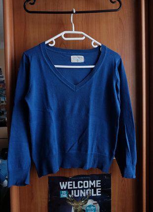Kupuj mé předměty na #vinted http://www.vinted.cz/damske-obleceni/s-v-vystrihem/15801297-krasny-kralovsky-modry-svetr-zn-atmosphere