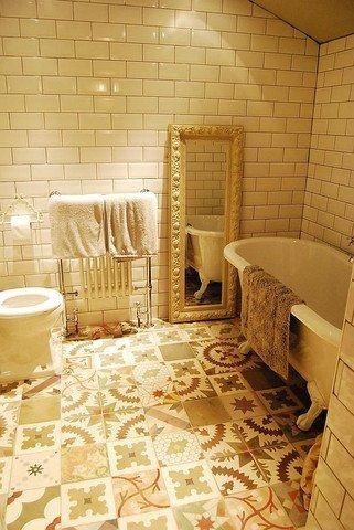 Metro tiles in main bathroom