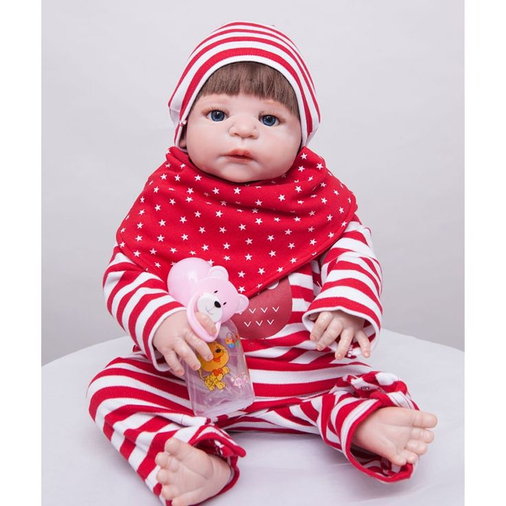 88.66$ Watch now - <b>55cm</b> Full Silicone Reborn Baby Doll Toy Like ...