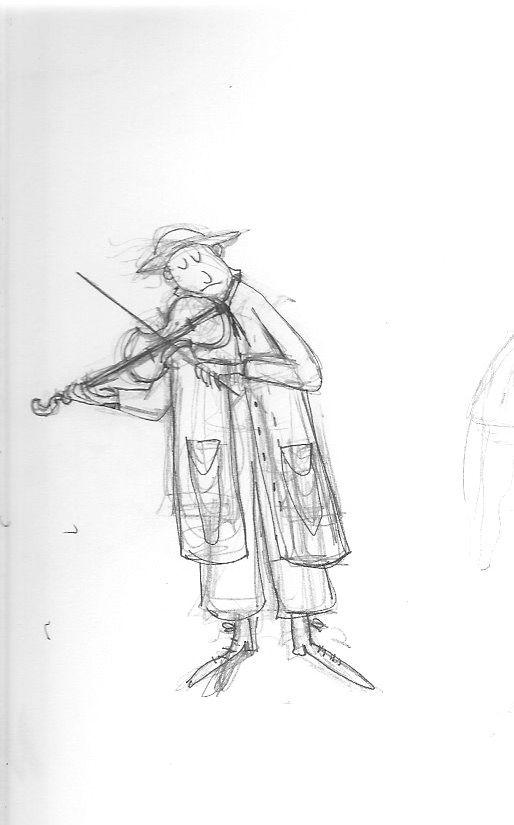 Schets violist Margriet van Noort