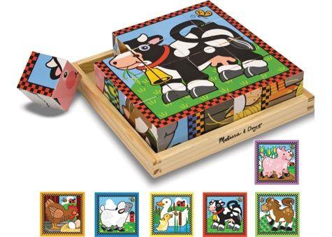 M&D - Farm Cube Puzzle - 16pc