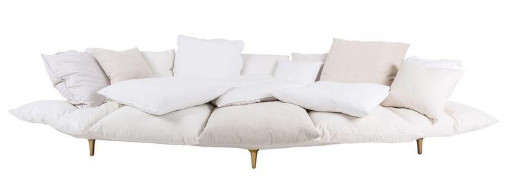 Canapé droit Comfy  L 300 cm Blanc - Seletti - Décoration et mobilier design avec Made in Design