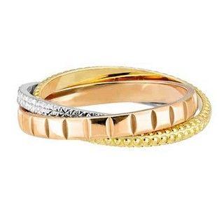 Alliance Pyah | Alliance Femme 3 Anneaux Entrelacés 3 Ors 18 carats