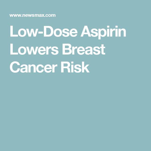 breast cancer and aspirin Interpretation
