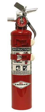 AMEREX 2.5 lb. Halon Fire Extinguisher with 2 Strap Mount