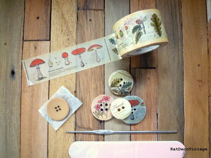 DIY Vintage: Con Botones, Carretes Antiguos y Washi Tape
