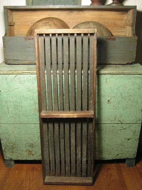 Early Old Primitive Antique Long Rectangular Slatted Drying Tray  $108 SALE PRICETrays, 108 Sales, Antiques Primitives Vintage, Primitives Decor, Antiques Long, Primitive Antiques, Primitives Christmas, Primitives Antiques, Primitives Green