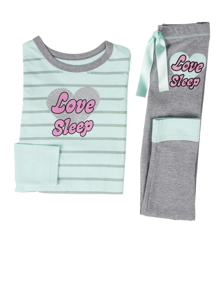 'Love Sleep' Cotton Pyjamas