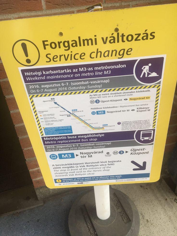Metrolinie 3 in Budapest teilweise vollkommen gesperrt – für lange Zeit