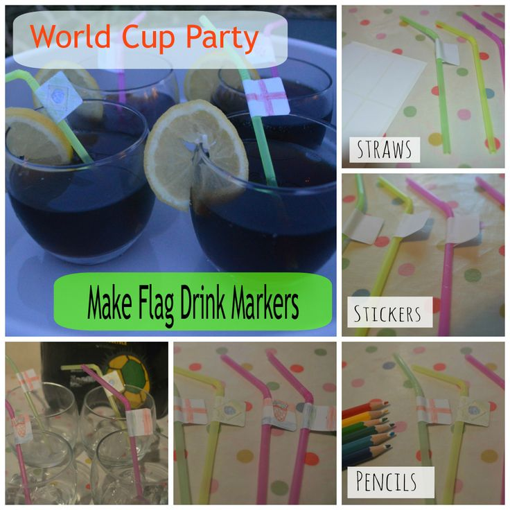 Make #WorldCup Flag Drink Marker Straws Never lose YOUR #CocaCola again! http://www.evans-crittens.com/2014/06/planning-world-cup-party.html #cbias #shop #bigmatchplanner