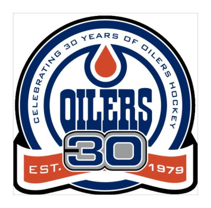 Edmonton Oilers 30 Year Anniversary Logo 1979-2008