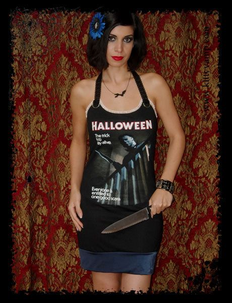 Halloween mini dress -Mike Myers Horror Movie Mini Dress M by kittyvampdesigns