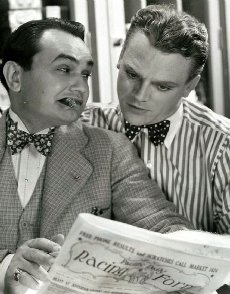 """James Cagney  Edward G Robinson in """"Smart Money"""" (1931)"""