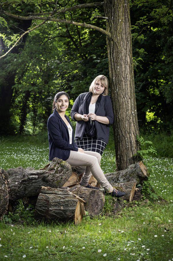 """Les filles à la conquête de la techno. Maria Beltran et Emilie Tappolet ont cofondé le studio genevois de jeux vidéo Apelab: """"Aujourd'hui, les cases ne sont plus aussi définitives qu'auparavant."""" © François Wavre/Rezo"""