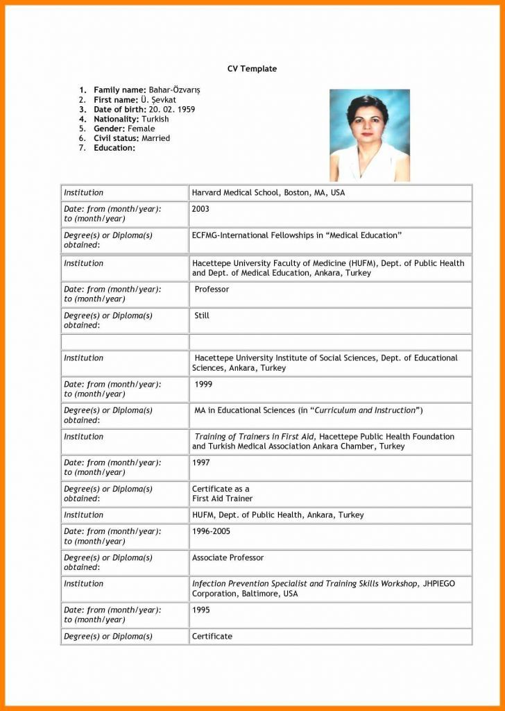 15 Format Of Biodata For Job Pdf Unmiser Able Job Resume Format Bio Data For Marriage New Resume Format