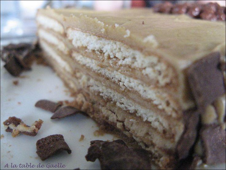 Gâteau moka petits beurres