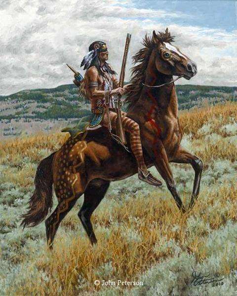 western art John Petersons western and mountain man art - Western ...