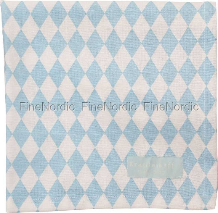 Cloth Napkin - Small Harlekin Baby Blue, from Krasilnikoff.