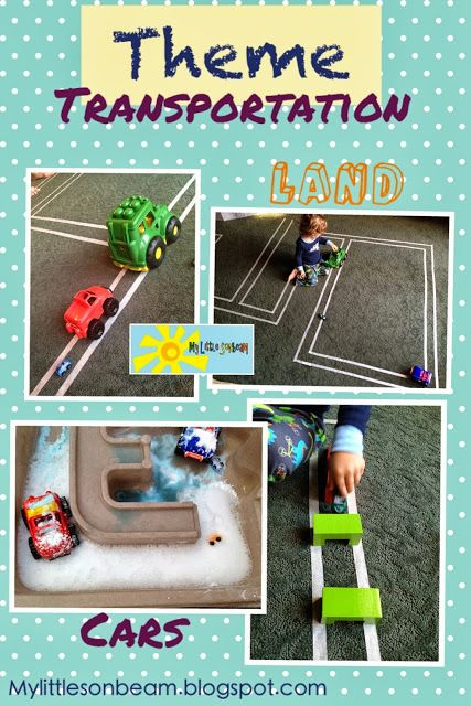 My Little Sonbeam October Week 1 Theme Land Transportation Cars