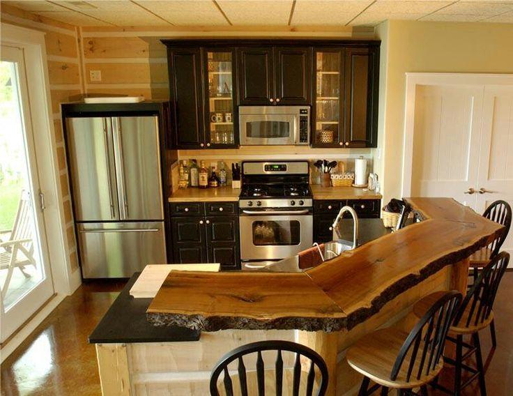 Rustic Counter amp Bar Kitchen Island Pinterest