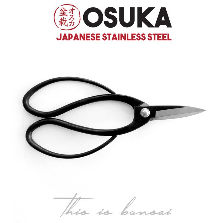 • OSUKA Bonsai Root Scissors (Bonsai • OSUKA Bonsai Root Scissors (Bonsai Root Shears • Length – 195mm • Finish – Black • Material – High Quality Japanese Stainless Steel