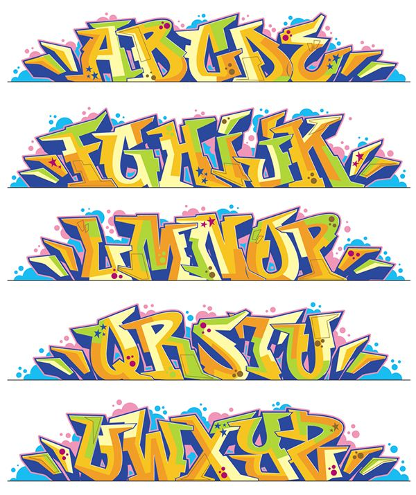 """Illustration pour le livre """"Street Fonts"""" - Graffiti alphabets from around the world"""