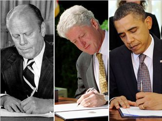 5 of the last 7 U.S. presidents were left-handed - only 10% of the population is left-handed