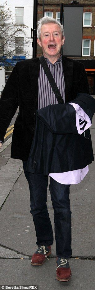 Hey boys! Judge Louis Walsh (left) and Stevi Ritchie (right) were also on their way to join Mel B