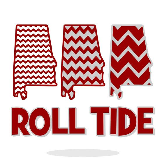 Alabama Chevron Pattern, Roll Tide, SVG, DXF, Vector Art, Die-Cut Files for Cricut Explore, Sizzix, Silhouette Cameo, Vinyl Cutter