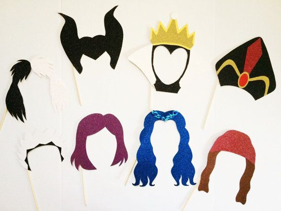 Disney Descendants Inspired Photo Booth Props by WCBCraftStudio