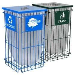 Clean Grid Fully Collapsible Recycling Receptacle