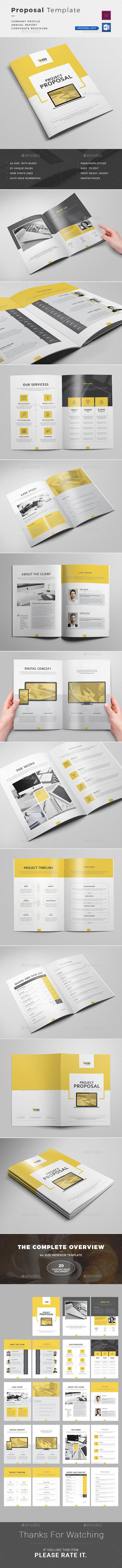#Proposal Word - Proposals & #Invoices Stationery Download here:  https://graphicriver.net/item/proposal-template/14542724?ref=alena994